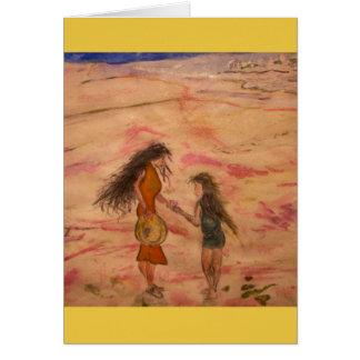Cartão aprecie a solidão da areia