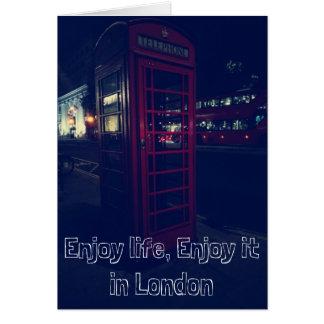 Cartão Aprecie a vida, aprecie-a em Londres