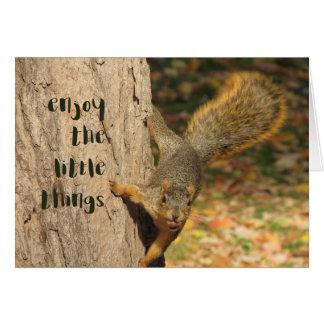 Cartão aprecie as coisas pequenas Notecard