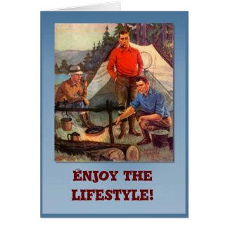 Cartão Aprecie o estilo de vida