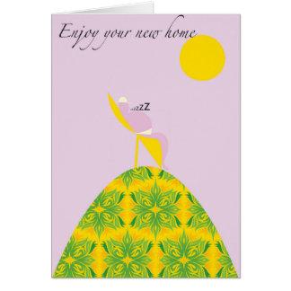 Cartão Aprecie sua casa nova no design do monte