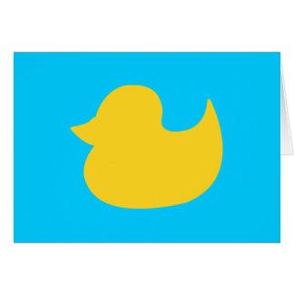 Cartão Aqua e forma amarela do pato