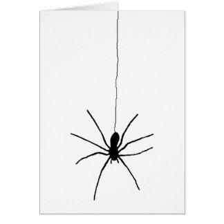 Cartão Aranha de suspensão