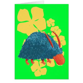 Cartão Arbusto-monstro misterioso