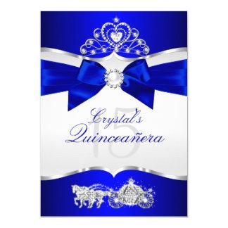 Cartão Arco de prata Quinceanera da pérola da tiara dos