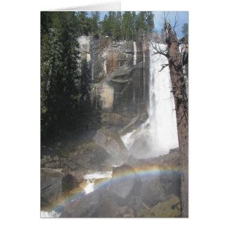 Cartão Arco-íris Vernal das quedas - Yosemite