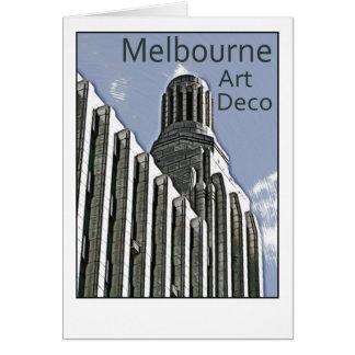 Cartão Art deco de Melbourne - construção do século