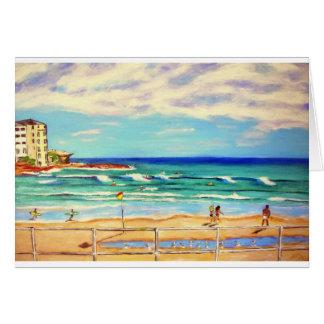 Cartão Arte da praia de Bondi