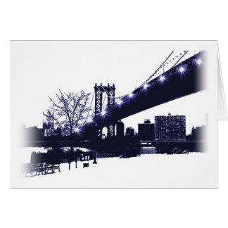 Cartão Arte de New York por Klara Sharon Tinkova
