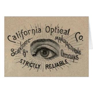 Cartão Arte de propaganda antiga do olho