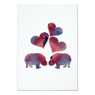 Cartão Arte do hipopótamo