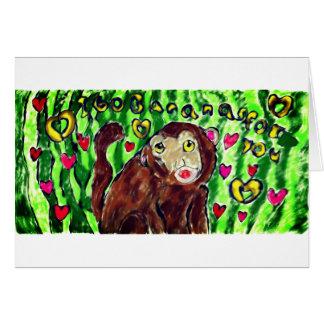 Cartão Arte do macaco