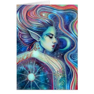 Cartão Arte feericamente surreal da fantasia de Celesta