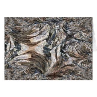 Cartão Arte Fractral do latido de árvore