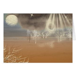 Cartão Arte marciana de Digitas da paisagem