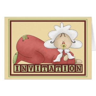 Cartão Arte popular Babyshower