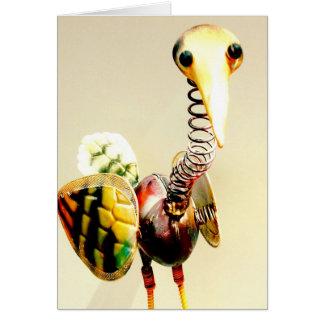 Cartão Arte popular Funky do ornamento do jardim do metal