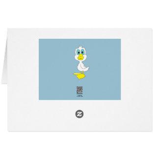 Cartão Artigos de papelaria do design do pato do bebê