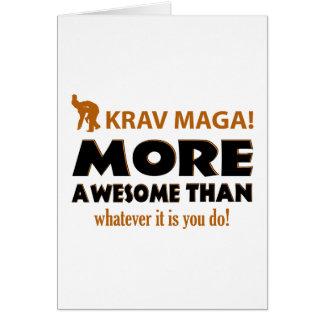 Cartão Artigos do presente das artes marciais de Krav