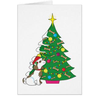 Cartão Árvore de Natal do cachorrinho