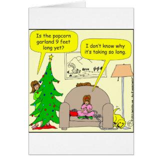 Cartão árvore de Natal x01 e festão da pipoca