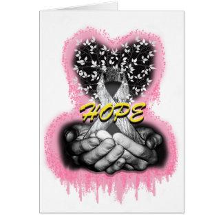 Cartão Árvore do cancer da esperança