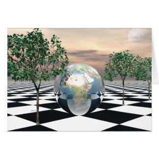 Cartão Árvores do verificador