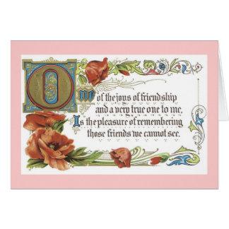 Cartão As alegrias da amizade