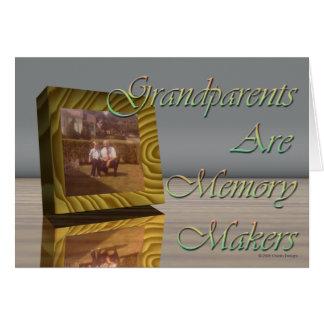 Cartão As avós são fabricantes da memória