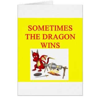 Cartão as vitórias do dragão
