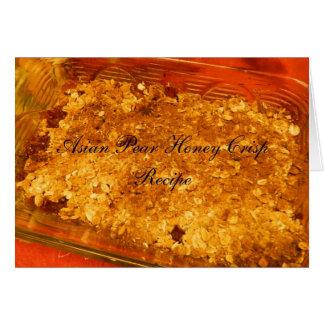 Cartão asiático da receita da batata frita de mel