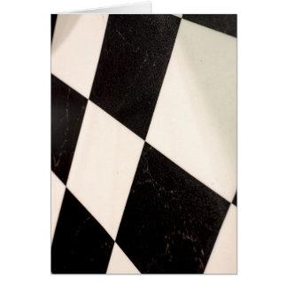 Cartão Assoalho Checkered preto & branco