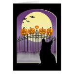Cartão assustador do Dia das Bruxas