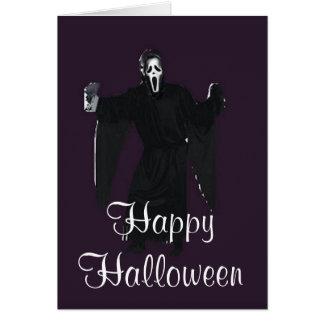Cartão assustador feliz do Dia das Bruxas
