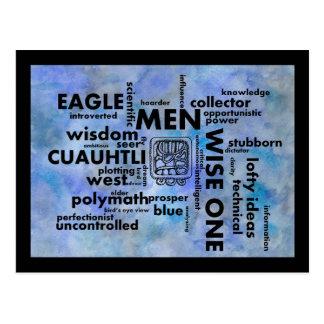 Cartão asteca maia de Cuauhtli dos homens da nuvem Cartões Postais