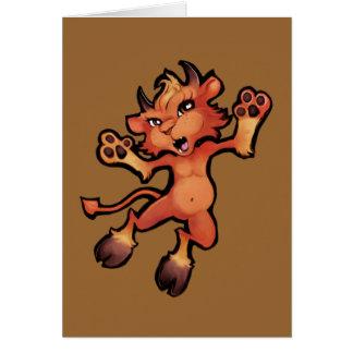 Cartão Ataque súbito do filhote de cachorro do diabo!