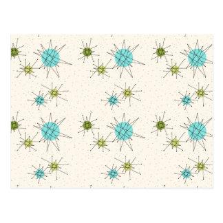 Cartão atômico icónico de Starbursts