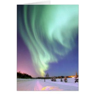 Cartão Aurora - aurora boreal bonita