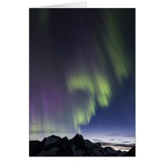 Cartão Aurora boreal de Juneau Icefield (vazio para
