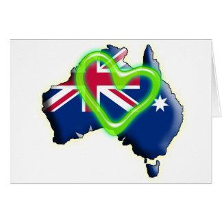 Cartão Austrália (coração verde)