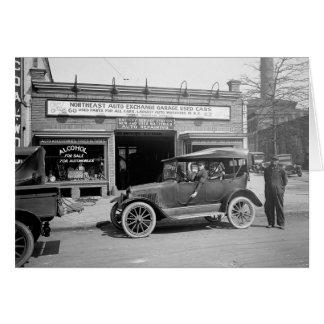 Cartão Auto troca do leste norte, 1926