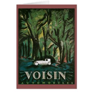 Cartão Automóveis de Voisin