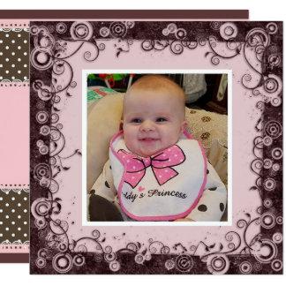 Cartão Avó do feliz aniversario, rosa e aniversário de