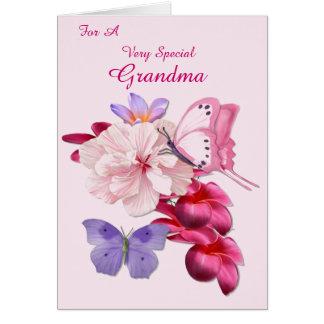Cartão Avó especial floral exótica