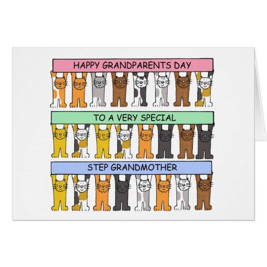 Cartão Avó feliz da etapa do dia das avós