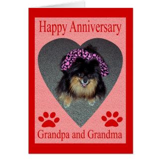 Cartão avós do aniversário