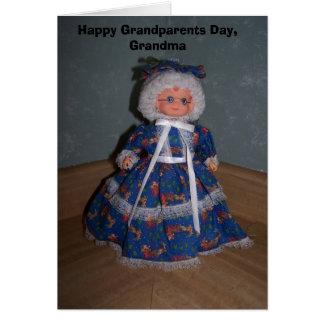 Cartão Avós felizes dia, avó
