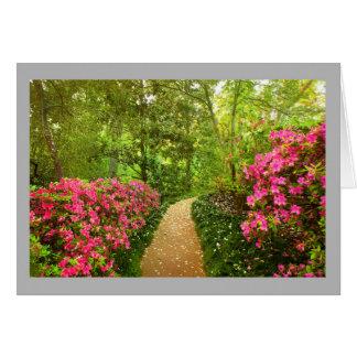 Cartão Azálea 11 azáleas cor-de-rosa da primavera &