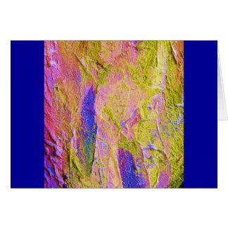 Cartão azul cor-de-rosa amarelo do esmagamento III