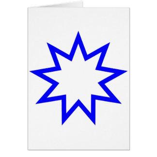 Cartão Azul da estrela de Bahai